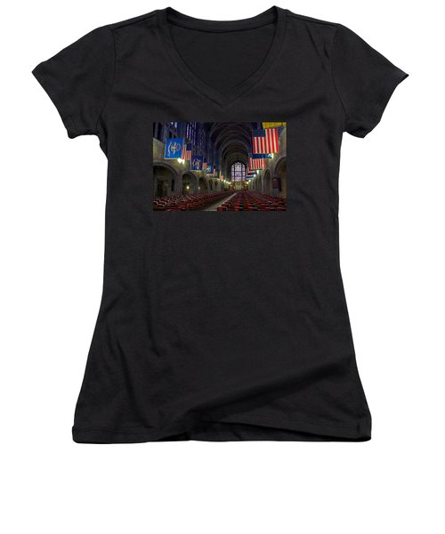 Cadet Chapel At West Point Women's V-Neck