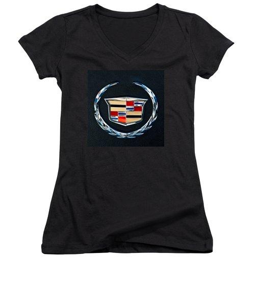 Cadillac Emblem Women's V-Neck T-Shirt