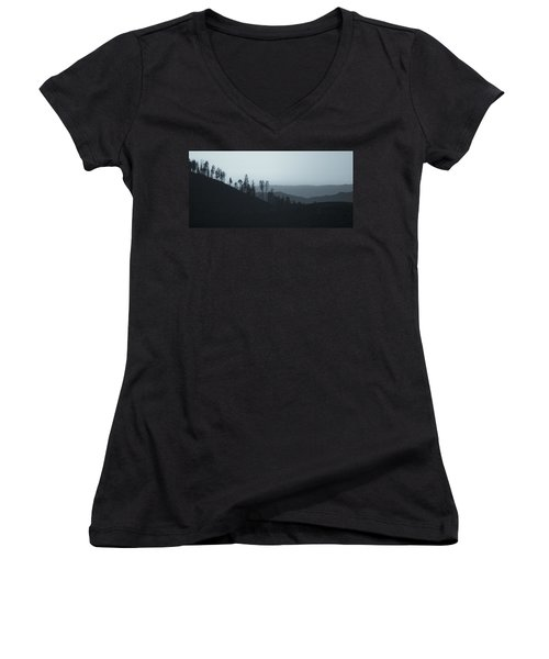 California Gray Skies Women's V-Neck
