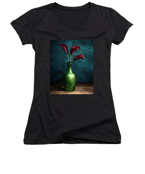 Calla Lilies I Women's V-Neck (Athletic Fit)