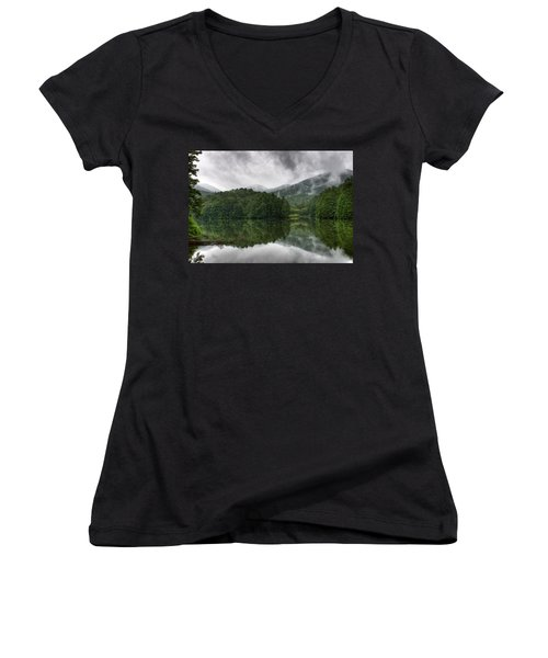 Women's V-Neck T-Shirt (Junior Cut) featuring the photograph Calm Waters by Rebecca Hiatt