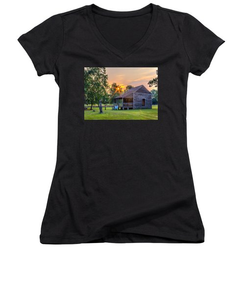 Camden Sunset Women's V-Neck (Athletic Fit)