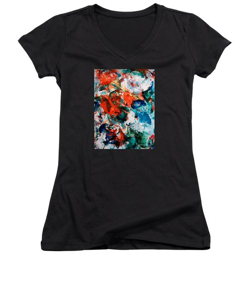 Can I Have This Dance Women's V-Neck T-Shirt (Junior Cut) by Lori  Lovetere