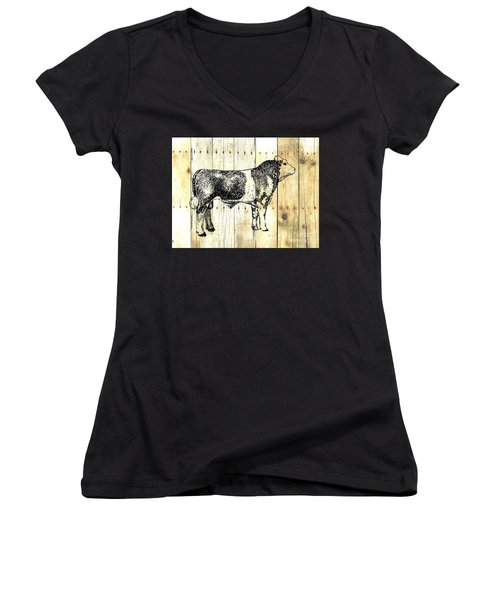 Canadian Champion 9 Women's V-Neck T-Shirt (Junior Cut) by Larry Campbell