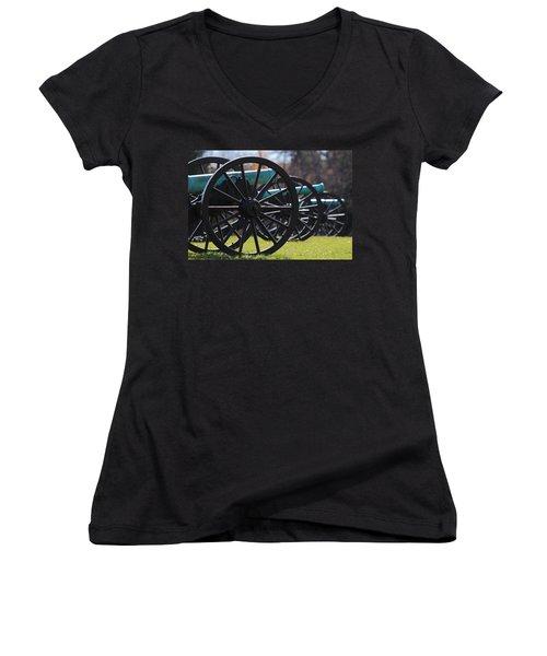 Cannons Of Manassas Battlefield Women's V-Neck (Athletic Fit)