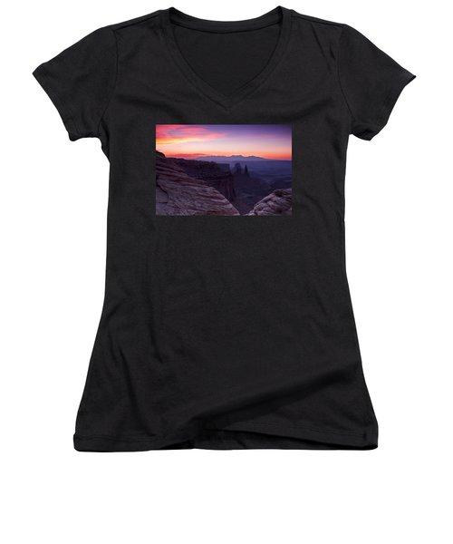 Canyonlands Sunrise Women's V-Neck T-Shirt