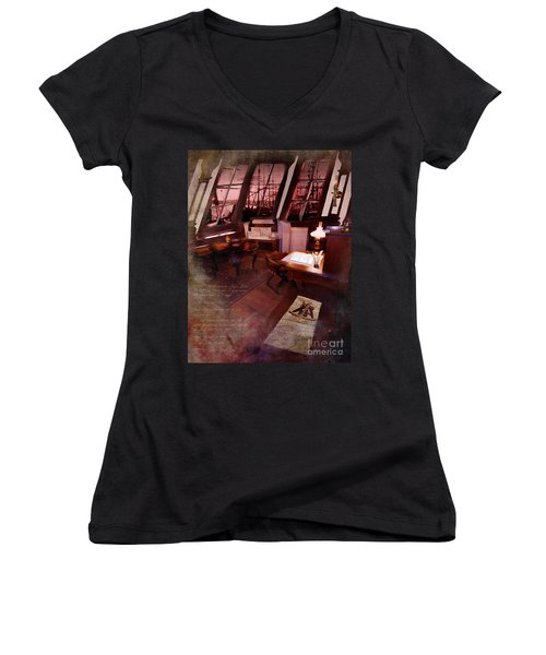 Captain's Cabin On The Dicey Women's V-Neck