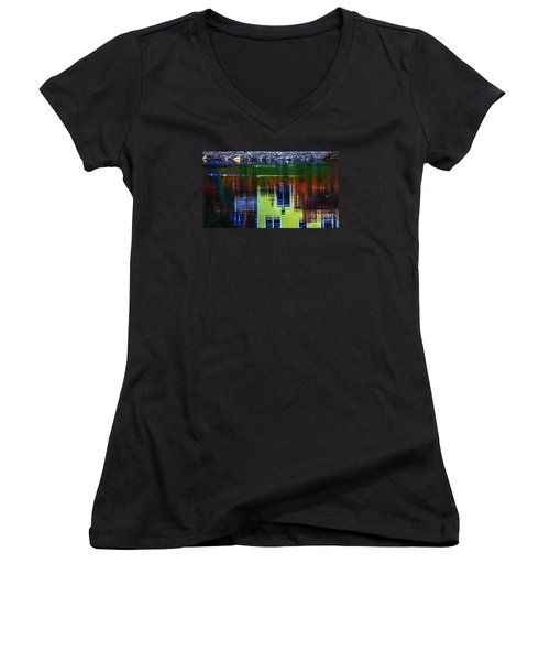 New England Landscape Illusion Women's V-Neck (Athletic Fit)