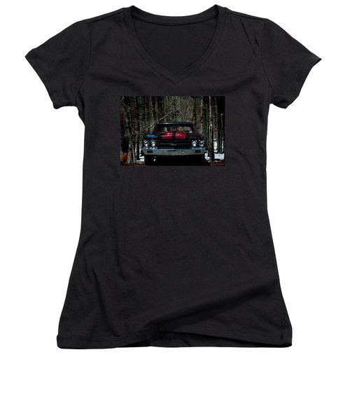 Car Art Chevy Chevelle Ss Hdr Women's V-Neck (Athletic Fit)