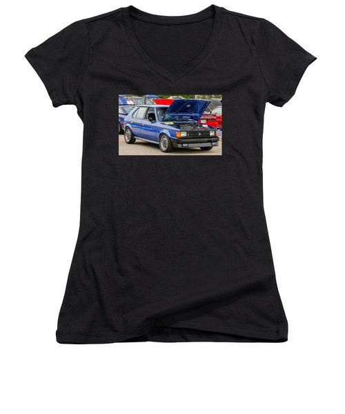 Car Show 078 Women's V-Neck (Athletic Fit)