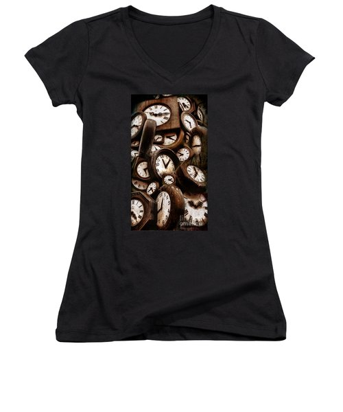 Carpe Diem - Time For Everyone Women's V-Neck (Athletic Fit)