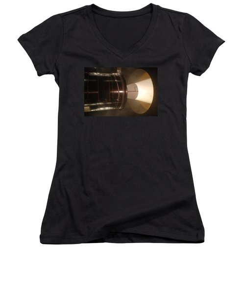 Women's V-Neck T-Shirt (Junior Cut) featuring the photograph Castor 30 Rocket Motor by Science Source