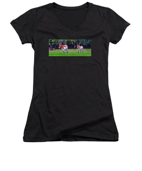 Catch Up To Mum Women's V-Neck (Athletic Fit)