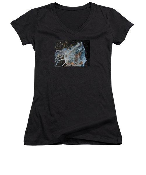 Celestial Stallion  Women's V-Neck T-Shirt (Junior Cut) by Jani Freimann