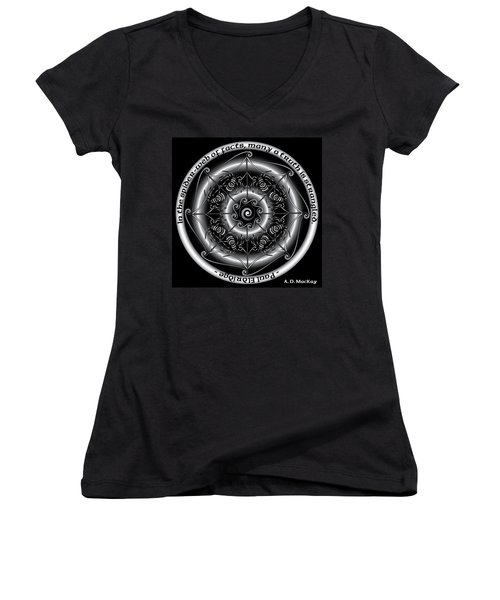 Celtic Spider Mandala Women's V-Neck (Athletic Fit)
