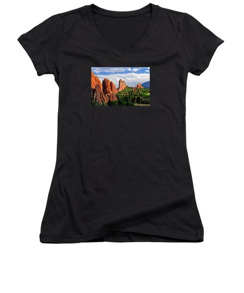 Central Garden Of The Gods Park Women's V-Neck T-Shirt