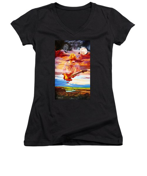 Channeling The Cosmic Goo At The Gorge Women's V-Neck T-Shirt