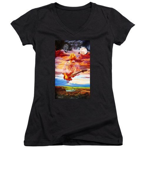 Channeling The Cosmic Goo At The Gorge Women's V-Neck (Athletic Fit)