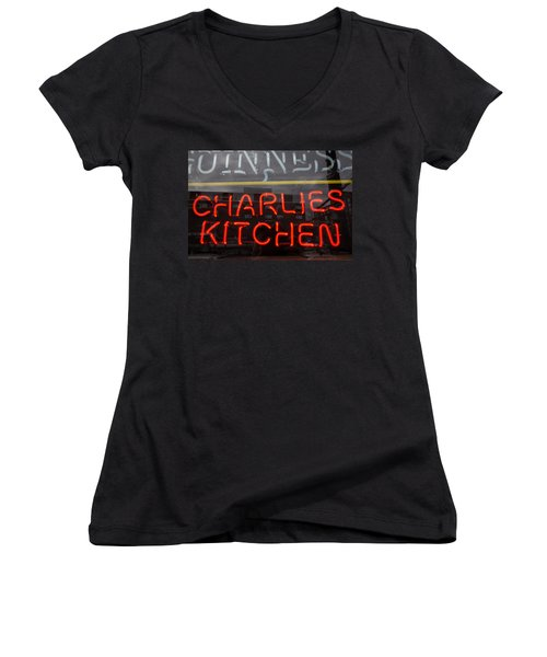 Charlies Kitchen Women's V-Neck T-Shirt