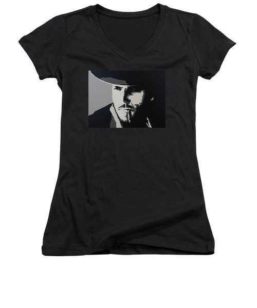 Women's V-Neck T-Shirt (Junior Cut) featuring the photograph Charro by Natalie Ortiz
