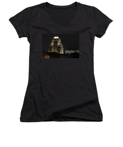 Chase Park Plaza From Art Hill Women's V-Neck (Athletic Fit)