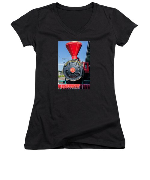 Chattanooga Choo Choo Steam Engine Women's V-Neck (Athletic Fit)