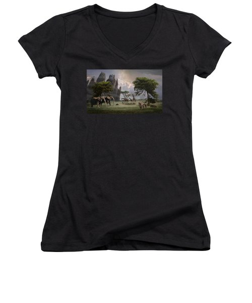 Cherish Our Earth's Creatures Women's V-Neck