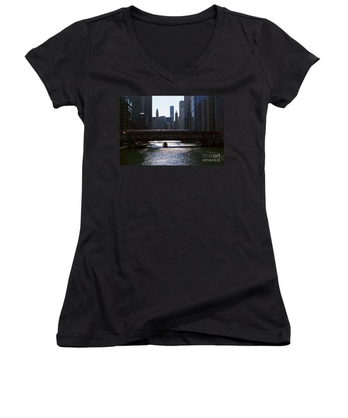 Chicago Morning Commute Women's V-Neck