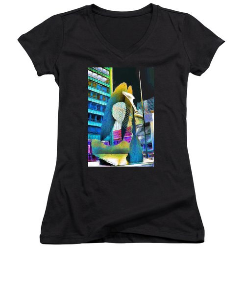 Chicago Picasso Women's V-Neck (Athletic Fit)