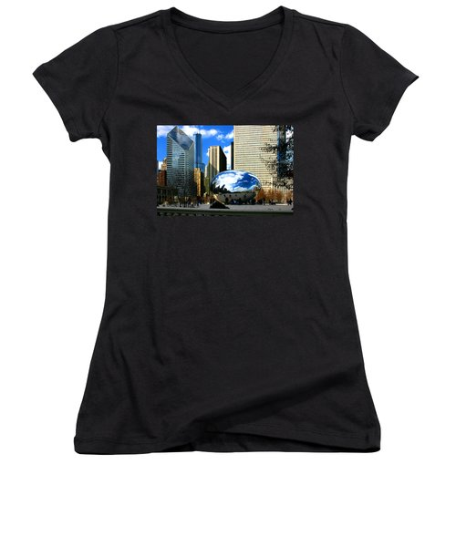 Chicago Skyline Bean Women's V-Neck
