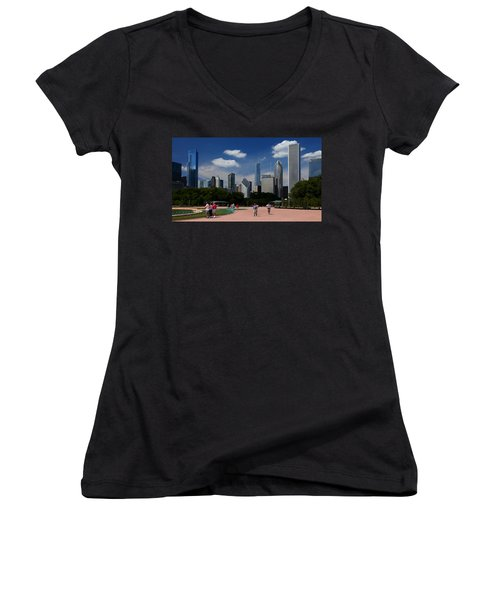 Chicago Skyline Grant Park Women's V-Neck