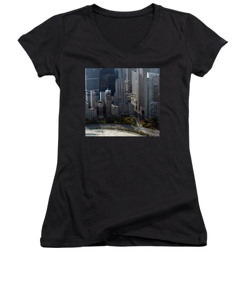 Chicago The Drake Women's V-Neck T-Shirt (Junior Cut) by Thomas Woolworth