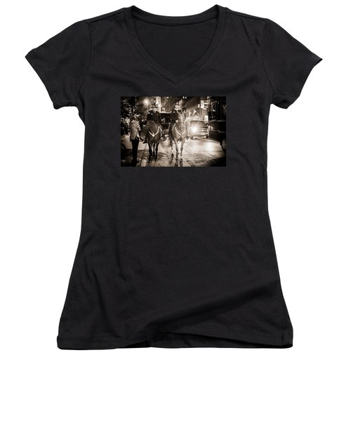 Chicago's Finest Women's V-Neck T-Shirt (Junior Cut) by Melinda Ledsome