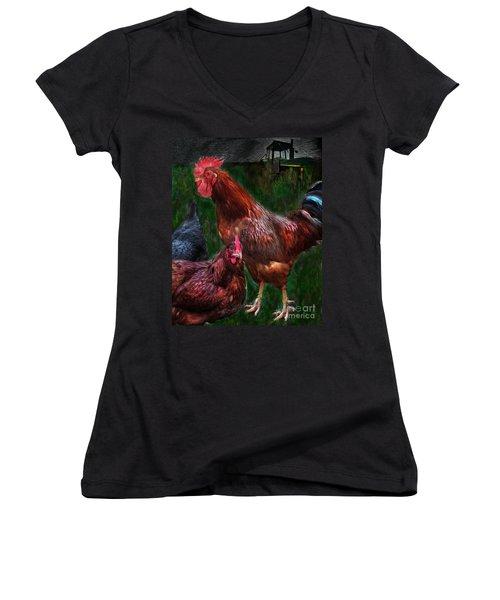 Chickens Women's V-Neck