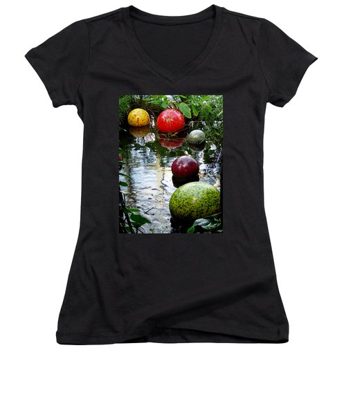 Chihuly Globes Women's V-Neck (Athletic Fit)