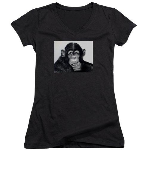 Chimp Women's V-Neck (Athletic Fit)