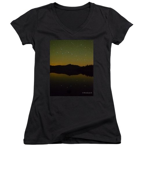 Chocorua Stars Women's V-Neck T-Shirt