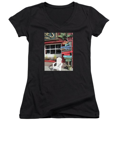 Women's V-Neck T-Shirt (Junior Cut) featuring the photograph Choice by Jieming Wang