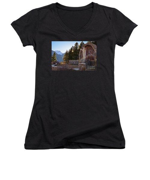 Christ Of The Mines Women's V-Neck T-Shirt