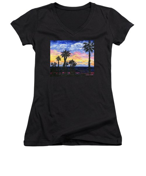 Christmas Eve In Redondo Beach Women's V-Neck T-Shirt