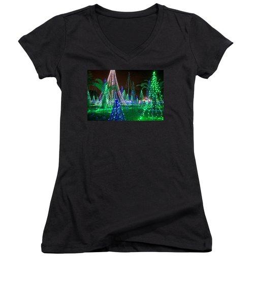 Christmas Lights 2 Women's V-Neck