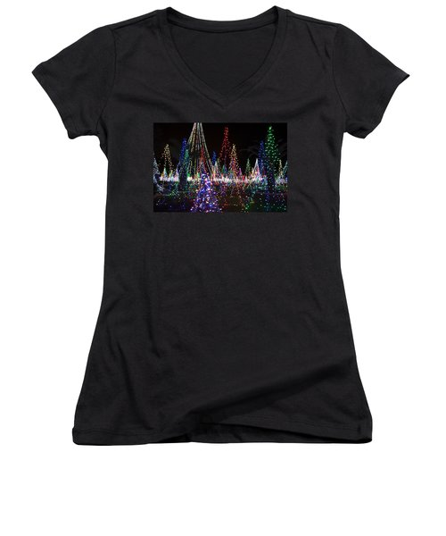 Christmas Lights 3 Women's V-Neck