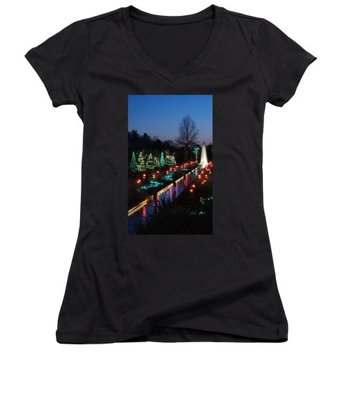 Christmas Reflections Women's V-Neck (Athletic Fit)