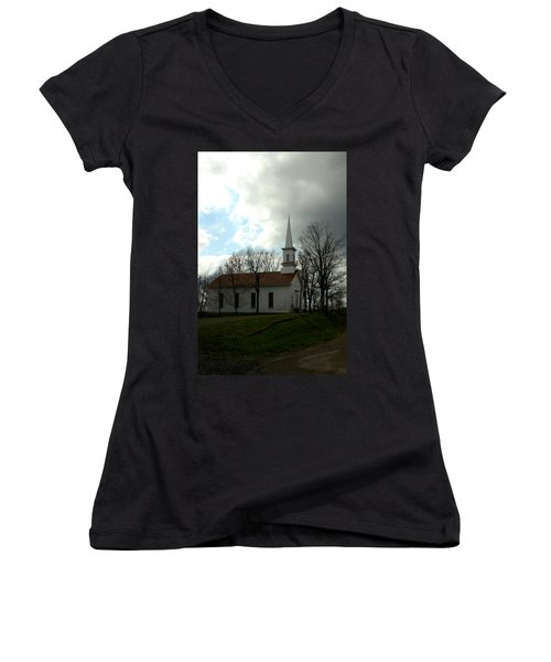 Church In The Country Women's V-Neck T-Shirt