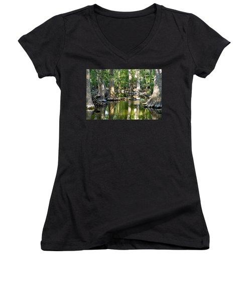 Cibolo Creek - 3 Women's V-Neck T-Shirt (Junior Cut)