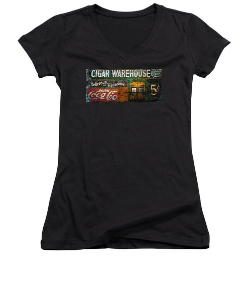 Cigar Warehouse Women's V-Neck (Athletic Fit)