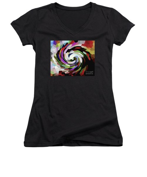 Circled Car Women's V-Neck (Athletic Fit)