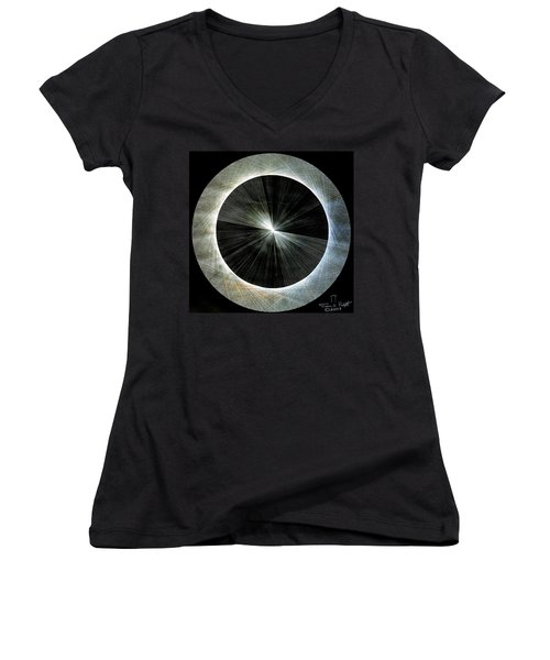 Circles Do Not Exist 720 The Shape Of Pi Women's V-Neck T-Shirt