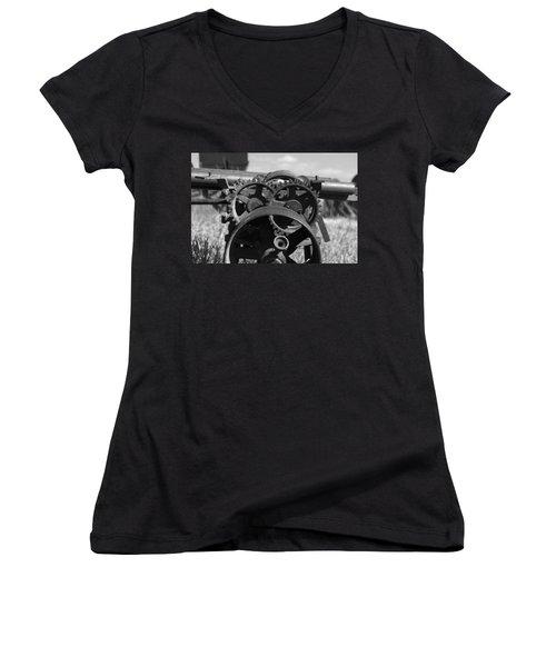 Circular Circus Women's V-Neck T-Shirt (Junior Cut) by Rebecca Davis