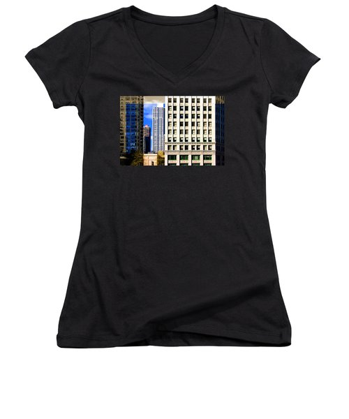 Cityscape Windows Women's V-Neck